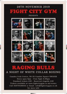 White collar boxing tickets from justbookitnow.com